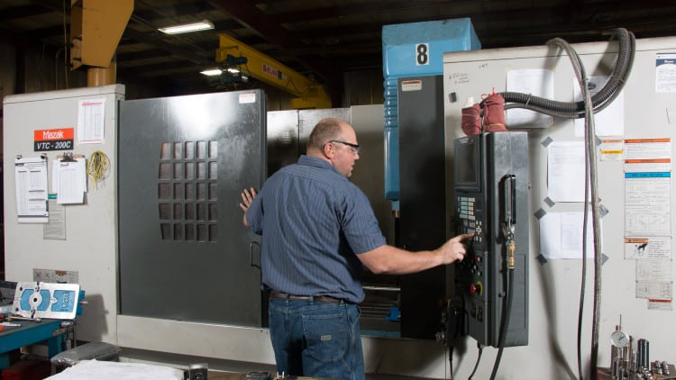 CNC machining services at Titletown Manufacturing