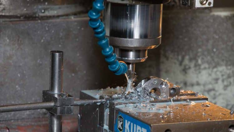 Machining small metal parts at Titletown Manufacturing